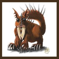 Mutated alien squirrel by Crowsrock