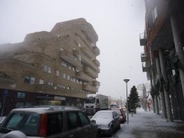 big building in the snow by StarGateFanFre