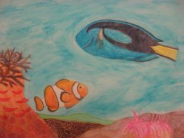 Dory and Nemo by theartisticnerd