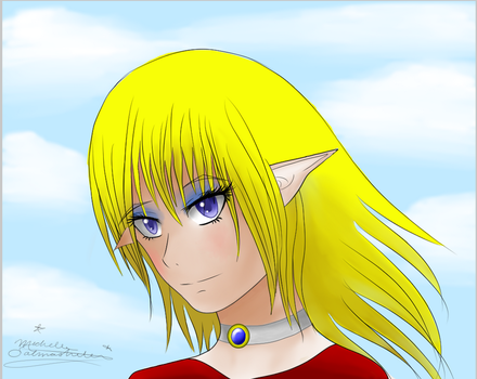 My first attempt at a realistic anime character by Nelphyta