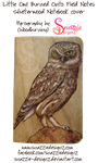 Owl Pyrograph (Wood Burning) Pocket Notebook by snazzie-designz