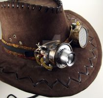 Saxton Energized Aether Airship Goggles w/ Hat by janus002