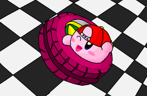 Wheel Kirby by Rotommowtom