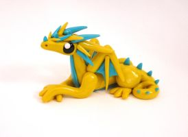 Yellow and Blue Dragon by ByToothAndClaw