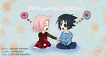 COLOR -- SasuSaku -- Chibi by Cynn-The-Beautiful