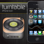Turntable iPhone Icon by Bonvallet