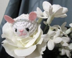 Bride Bunny in Flower by AmiTownCreatures