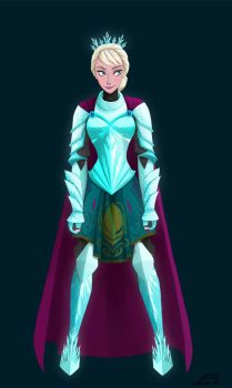 Elsa Protector of the Realm by mizzizabellaSMS