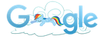 Rainbow Dash Google Logo [Install guide] by xXMaxterXx