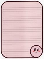 Kirby Stationery by MrNintendoFan54729