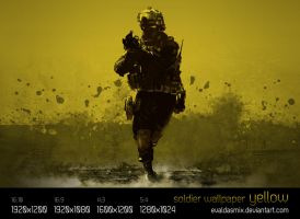 Soldier wallpaper: yellow by evaldasmix