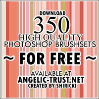 350 Free Photoshop Brushsets by shiricki