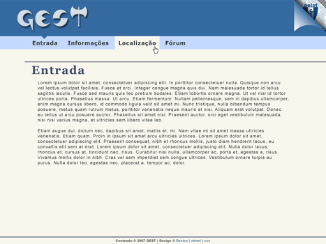 Gest Homepage Redesign 1 by d3x7r0