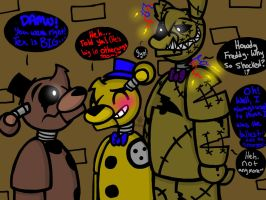 Size Matters (FNaF Freddy, Goldy and Tex) by YaoiLover113