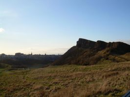 Castle and Crags by Azvolrien