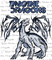 Imagine Dragons T-shirt by I3-byUsagi