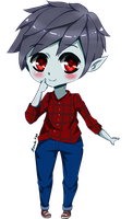 Marshall lee chibi Adventure time by AmadoSan