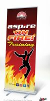Rollup Stand Aspire On Fire by mietony