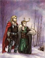 Cold morning in Asgard -collab by Reliah