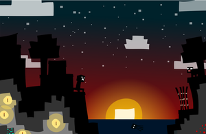 Minecraft Vector Sunset by LaggyCreations
