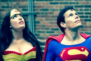 Wonder Woman and Superman Cosplay - Hera Help Us by SparrowsSongCosplay