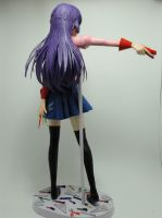 Senjogahara Hitagi Paperfigure Back View by BRSpidey