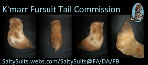 K'marr Fursuit Tail Commission 2.0 by SaltyPuppy
