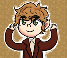 A kawaii bilbo baggins by sjham61
