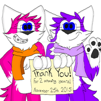 2 WHOLE YEARS!!!! THANK YOU!!! by LionKingWarriors561