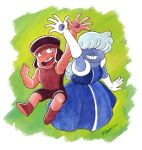 Ruby and Sapphire by Vinzul
