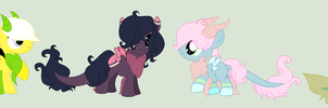 Dragon Pony Colt and Filly Adoptables [CLOSED] by CuppieCakeAdopts
