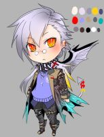 paypal adoptable auction-white devil (closed) by k6-san