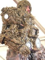 alien astronaut/ Ancient Astronaut steampunk cyber by cosplayoverlord