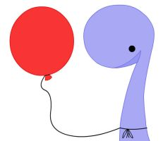 the dinosaur and the balloon by charged-with-arson