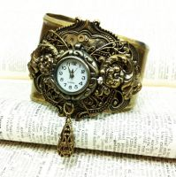 Hypnos Steampunk Watch Cuff by sodacrush