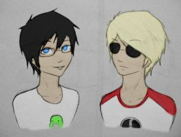 John Egbert and Dave Strider by Catchmewithyourlips