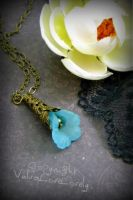 Vulva Necklace: Blue Yonic Petals by VulvaLoveLovely