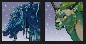 .: Christmas icons 1 :. by Shien-Ra