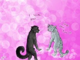 Silverstream and Greystripe - I love you by Espenfluss