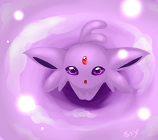 Espeon light by Effier-sxy