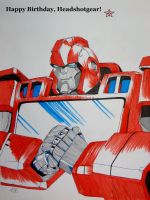 Happy Birthday Headshotgear! -IronHide by BlueFire795