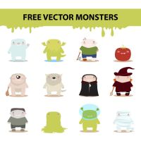 free vector monsters by harridan