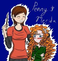 Penny and Merida age switch! Art request by Mangaka4eva