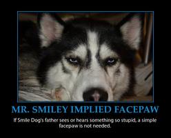 Mr. Smiley Implied Facepaw Demotivator by MrAngryDog