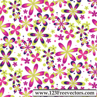 Free Seamless Flower Pattern by 123freevectors