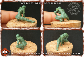 linewoman of Blood Bowl Amazon Team (miniature) by RU-MOR
