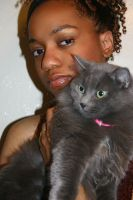 Me and My Cat by myzzeriestock