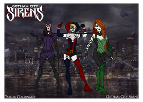 My DC Universe - Gotham City Sirens Redesigned by Femmes-Fatales