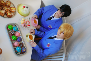 Ouran Highschool Host Club - Kyoya and Tamaki by VersusMemories