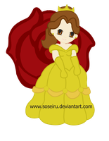 Princess Belle Chibi by CosmicLabCreations